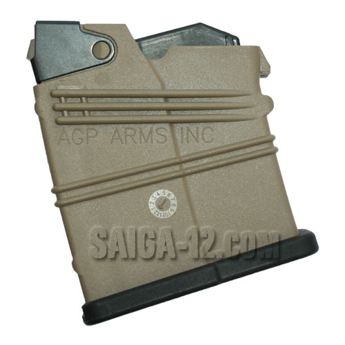 Saiga 12 Gauge 2 Round Magazine AGP - Dark Earth