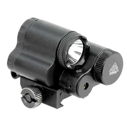 UTG Sub-compact LED Flashlight and Aiming Adjustable Red Laser