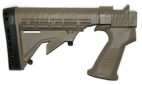 Saiga KickLite 6 Position M4 Style Stock with Recoil Reduction Dark Earth