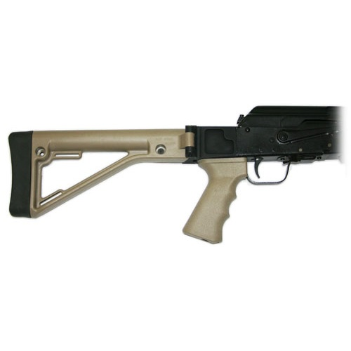 Saiga Side Folding Stock Kit for Stock Gun - DARK EARTH