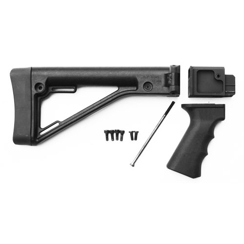 Saiga Side Folding Stock Kit for Stock Gun (FOR STAMPED RECEIVERS) - Black